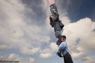 business stock photo of people hanging on