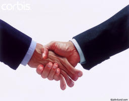 funny photo of business men shaking hands