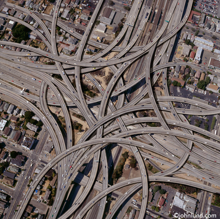 complex freeway interchange