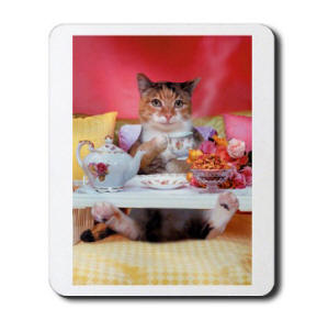 Breakfast in Bed Mousepad