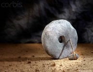 picture of a stone age wheel, and cave man ax - stock photo ideas