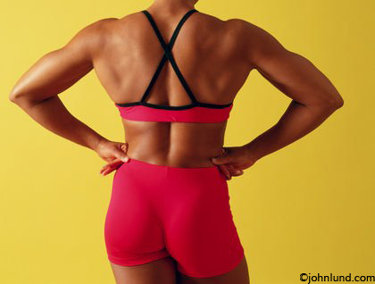 african american woman body builders strong back