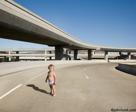 Kid Standing Alone In diapers standing aloneKid Standing Alone