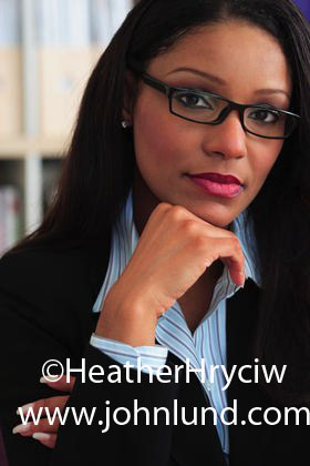 Attractive Young Black Business Woman Portrait Close Up