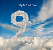 A cloud forms the number