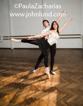 Young Couple Doing Ballet Dance - Practicing Ballet In the
