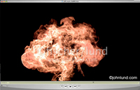 Slow motion video of butane gas exploding into a fireball