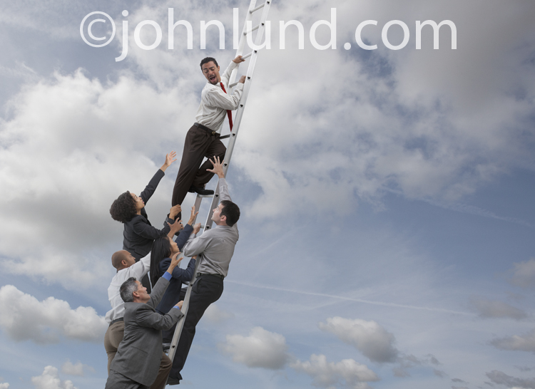 how to say climb the corporate ladder