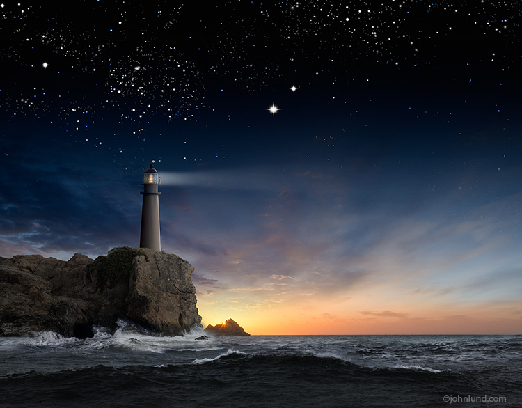 Lighthouse Photos: Under Starry Skies