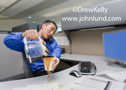 Office Disaster Pictures - Man Spilling Coffee All Over ...