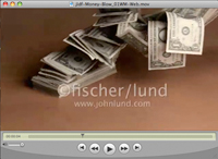 Slow motion video of a stack of one dollar bills blowing away in a concept motion stock production