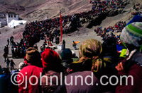 Stock photo of an Oracle ceremony in Ladakh, India