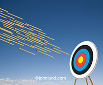 On target writing is the central theme of this stock photo showing a