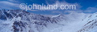 Adventure and Travel stock photo of the Himalyan Mountains shot from Kardung La pas at 18,000 feet elevation in the winter.