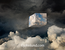 Cloud computing is illustrated in this stock photo of a