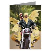 Biker Chicks Greeting Cards - the worlds funniest cards