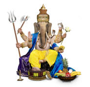 The hindu god Ganesha, also known as Ganapati, the Hindu God and remover of all obstacles.