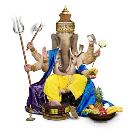 Ganesh - Gifts and Merchandise Imprinted with this Picture of The hindu god Ganesha, also known as Ganapati, the Hindu God and remover of all obstacles.