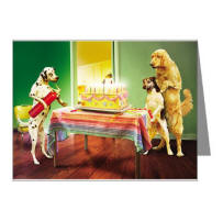 Funny birtday card with dogs