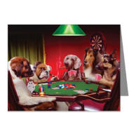 Poker Dogs Note Cards (Pk of 20)