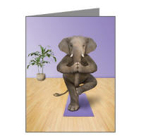 Elephant Yoga Note Cards (Pk of 20)