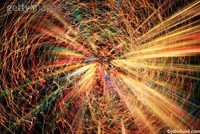 Stock photo of an abstract burst of light symbolizing expansion, energy, motion and cyberspace.